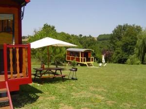 Gite roulotte Lot et Garonne
